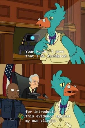 lawyer chicken