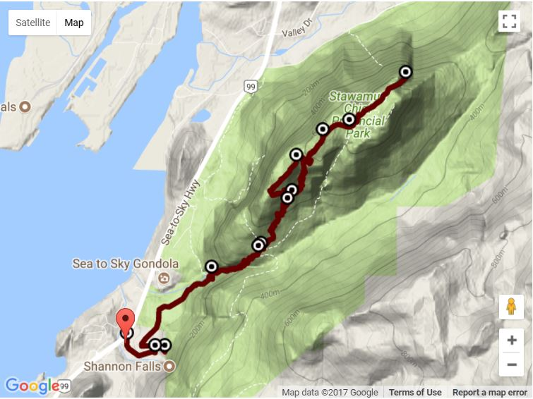 Stawamus Chief Map